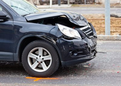 Fender-bender in a car accident